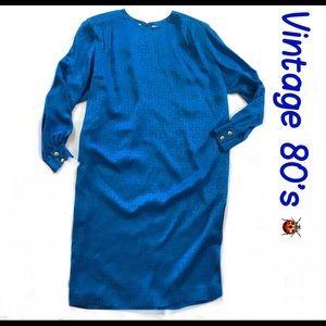 Liz Claiborne Silk Vintage Chemise Dress Size 12